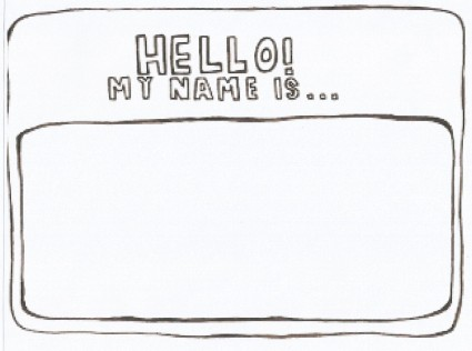Hello My Name Is Name Tag